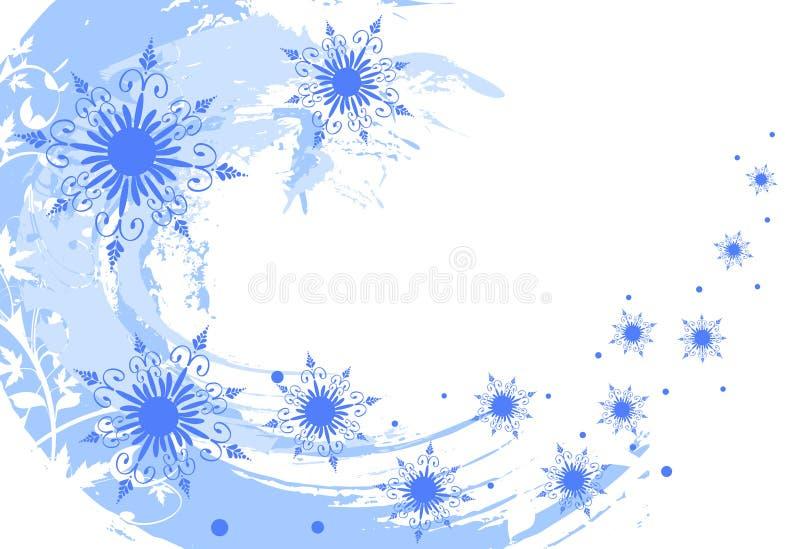 Fond grunge de flocons de neige illustration libre de droits