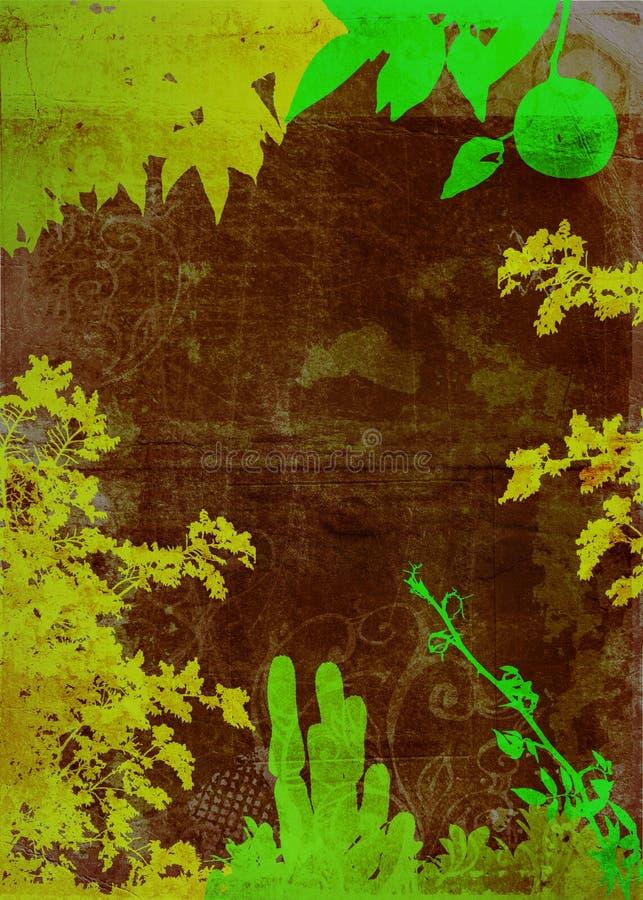 Fond grunge de jardin illustration de vecteur