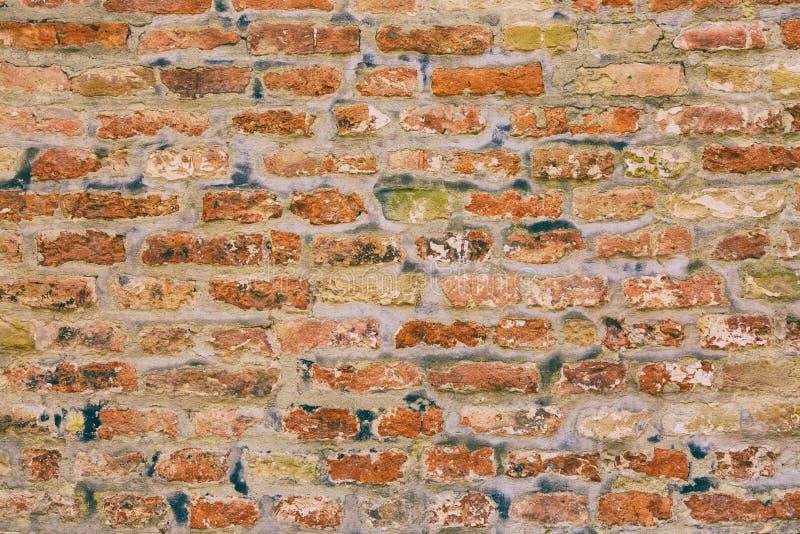 Fond grunge de mur de briques de vieux vintage Texture abstraite de mur photos stock