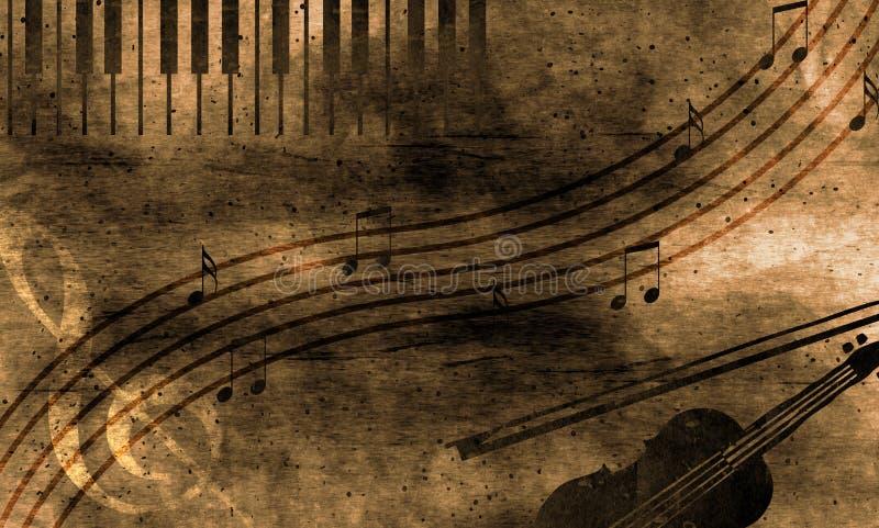 Fond grunge de musique illustration de vecteur