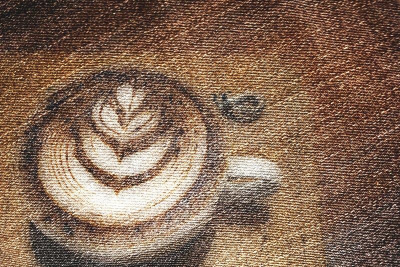 Fond grunge de photo de café d'art illustration de vecteur
