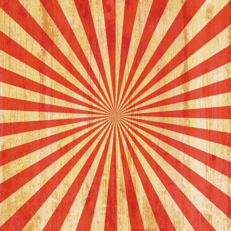 Fond grunge de rayon de soleil de vintage illustration de vecteur