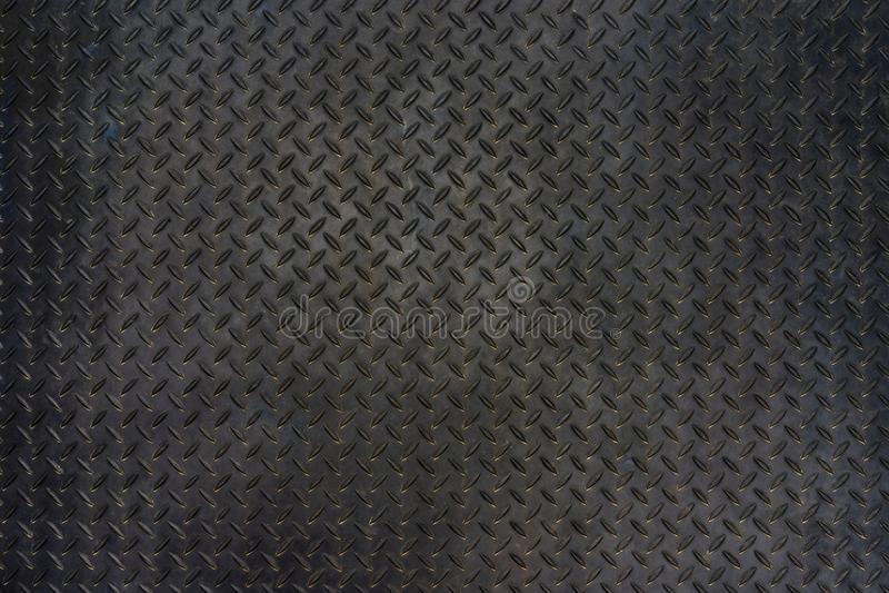 Fond grunge de texture de plancher de plat de diamant en métal images stock