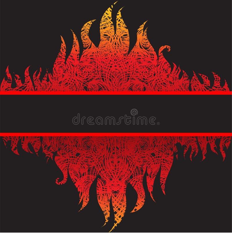 Fond grunge de trame de vecteur beau avec l'incendie illustration stock