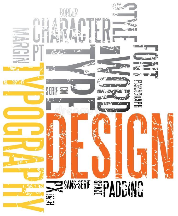 Fond grunge de typographie illustration stock