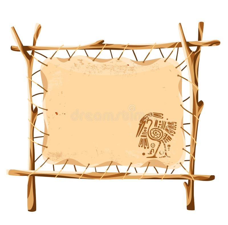 Fond grunge de vecteur avec le bagout traditionnel indien illustration de vecteur
