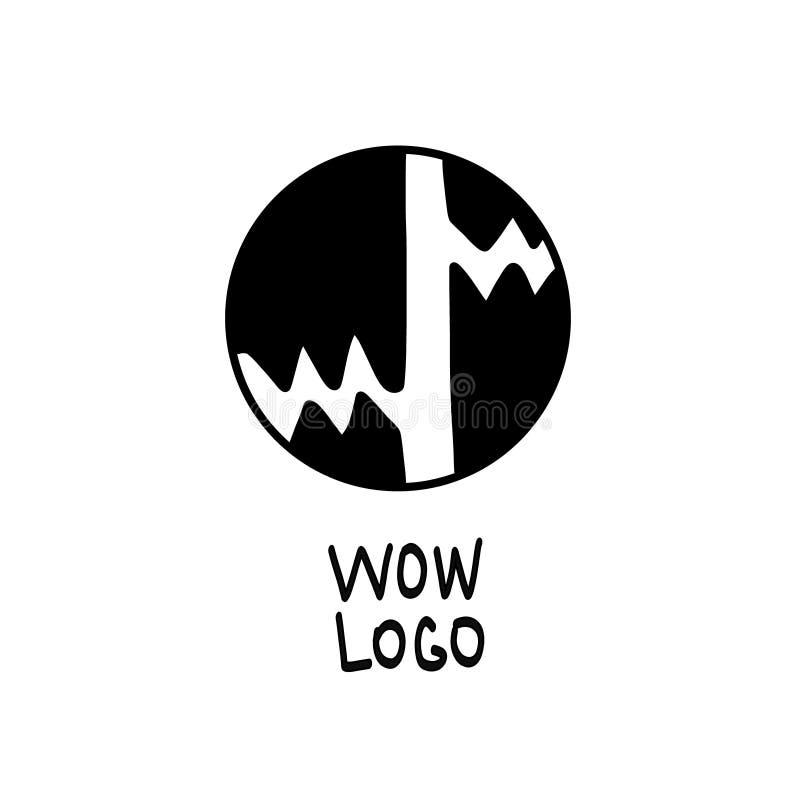 Fond grunge de vecteur Forme ronde Fond d'aquarelle rétro cru illustration stock