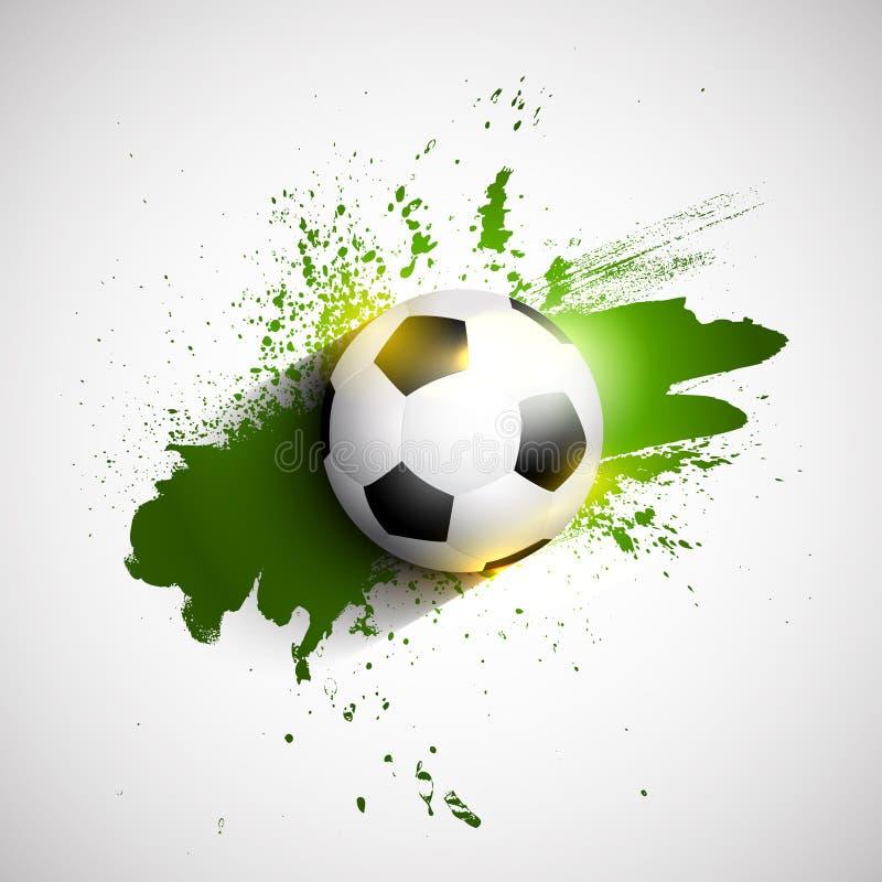 Fond grunge du football/ballon de football illustration libre de droits