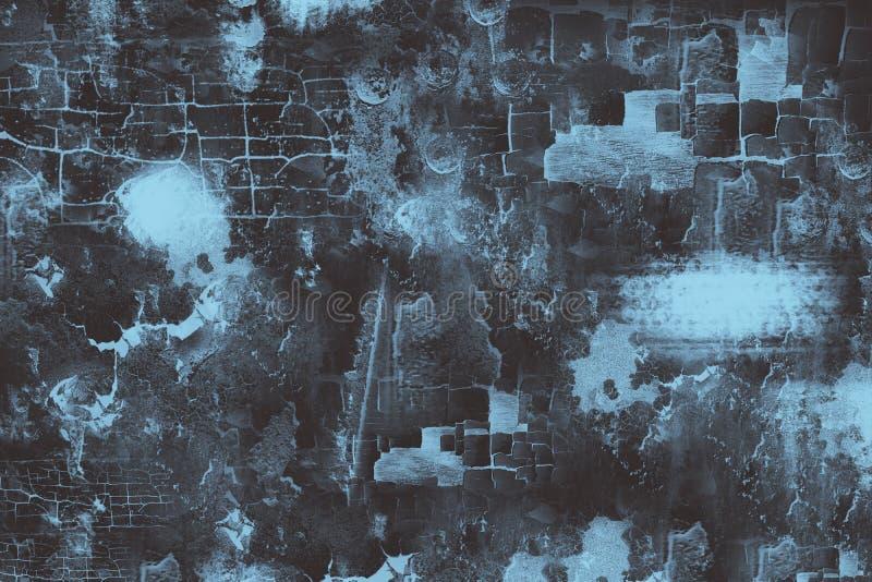 Fond grunge en métal, texture en acier portée illustration stock