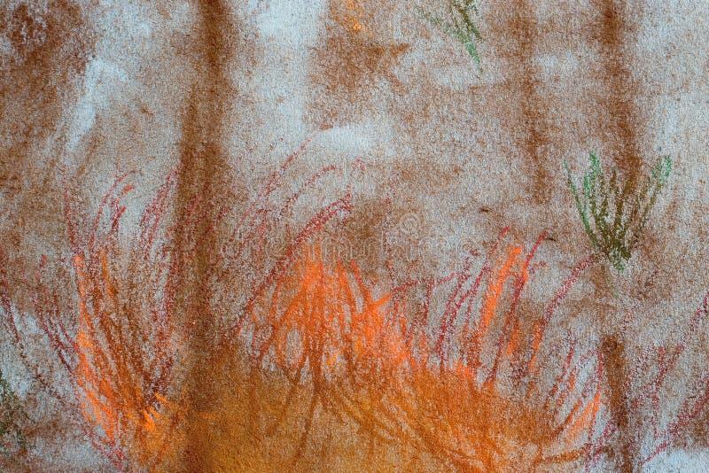 Fond grunge en pastel : Incendie de forêt images libres de droits