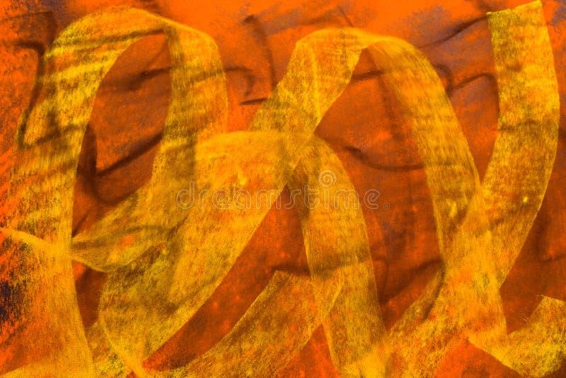 Fond grunge en pastel : Jaune-orange noir illustration libre de droits