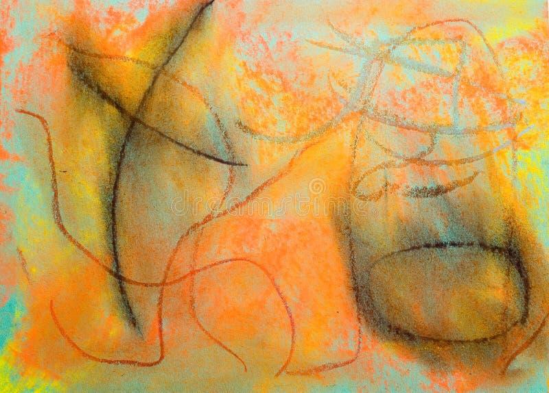 Fond grunge en pastel : Série bleue images stock