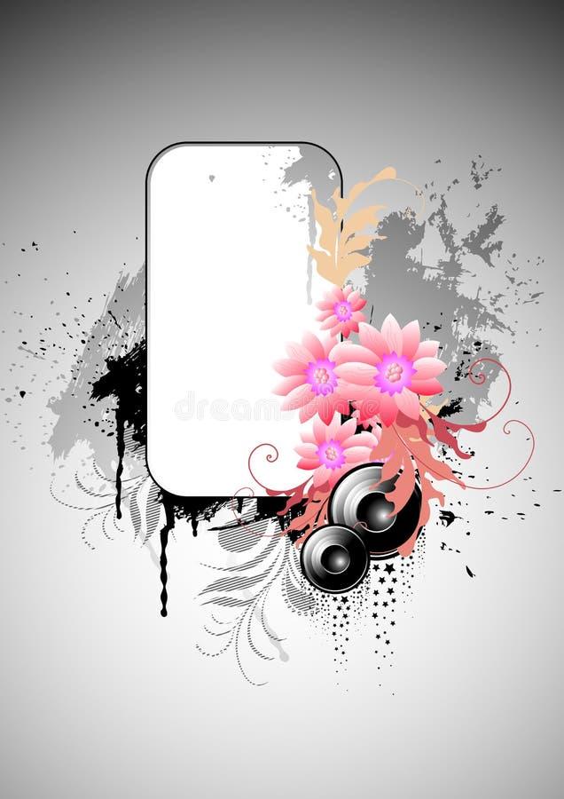 Fond grunge floral illustration libre de droits
