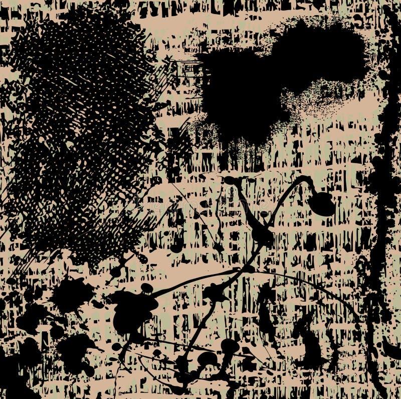 Download Fond grunge foncé illustration de vecteur. Illustration du baisses - 8663729