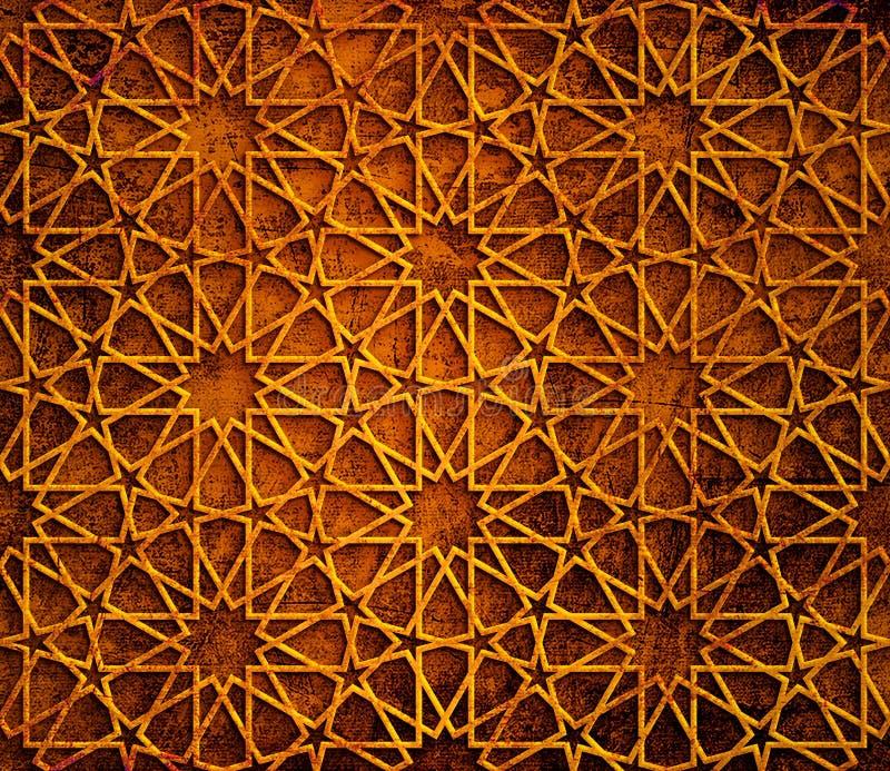 Fond grunge géométrique islamique photographie stock