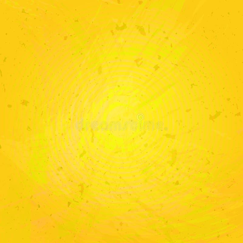 Fond grunge jaune dans le vecteur illustration libre de droits