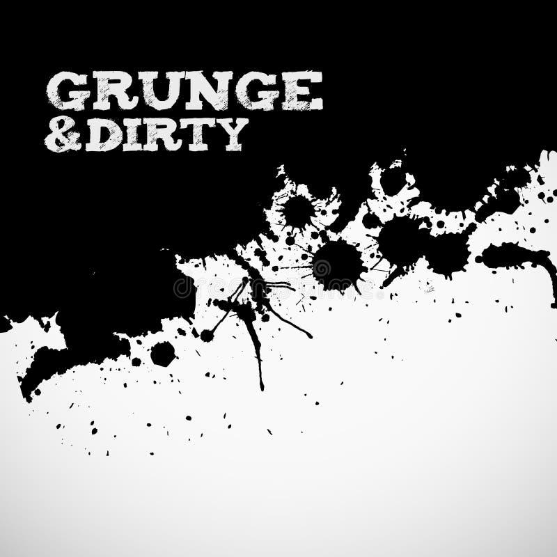 Fond grunge noir abstrait illustration libre de droits