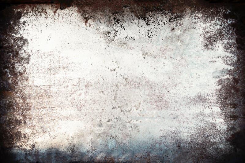 Fond grunge noir et blanc Recouvrement de la poussière et Ba de détresse photographie stock