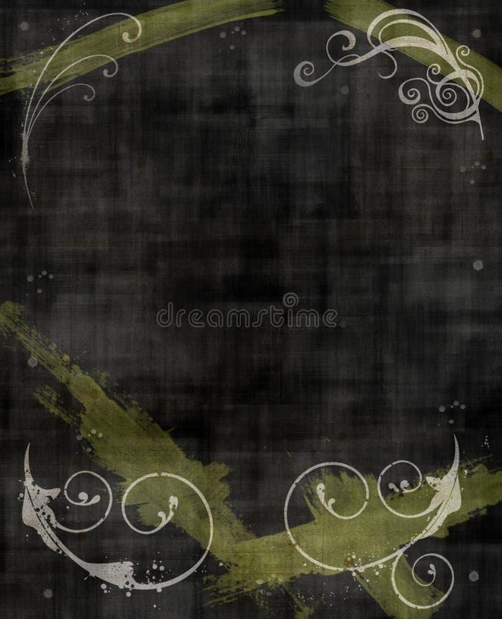 Fond grunge noir et jaune illustration stock