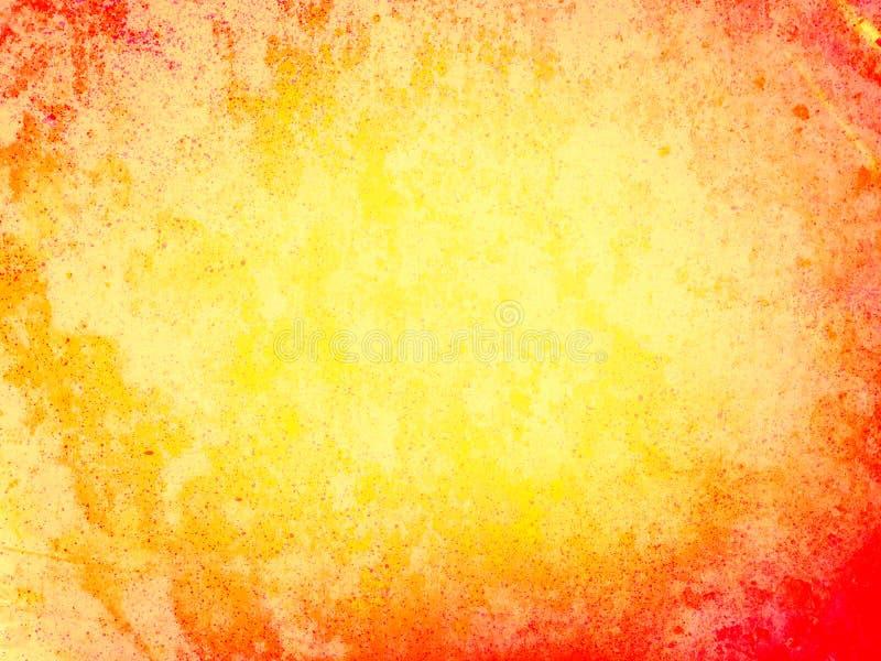 Fond grunge orange et jaune de gradient illustration libre de droits