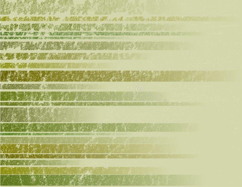 Fond grunge rayé vert illustration stock