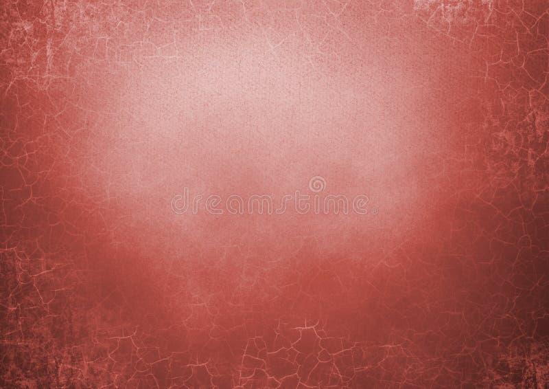 Fond grunge rouge avec des fissures illustration libre de droits