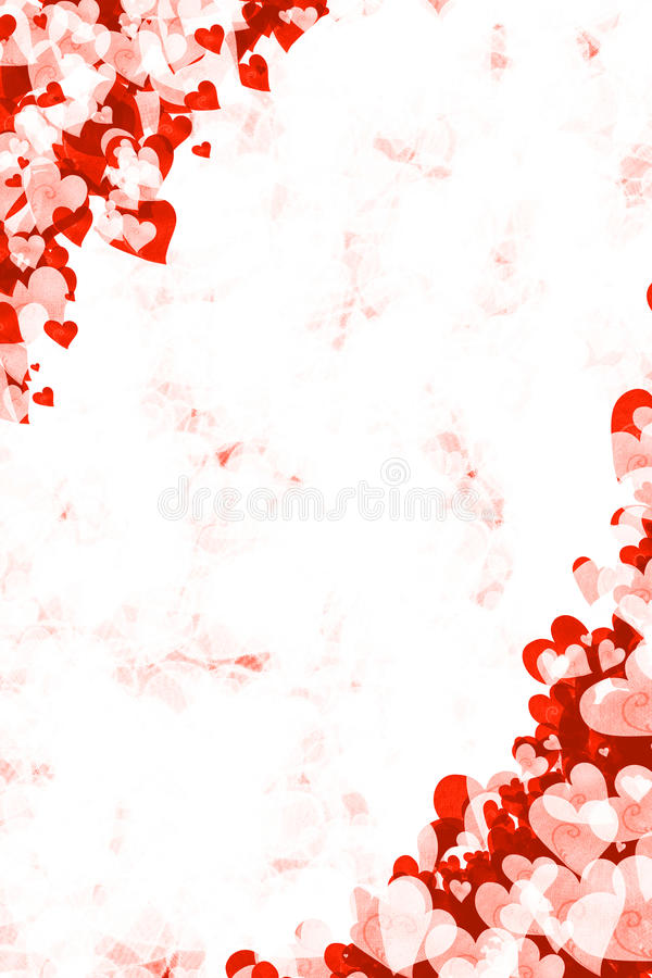 Fond grunge rouge de coeur illustration stock