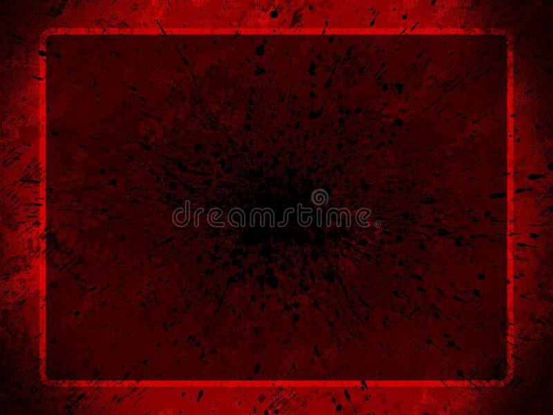 Fond grunge rouge pour des pres illustration stock
