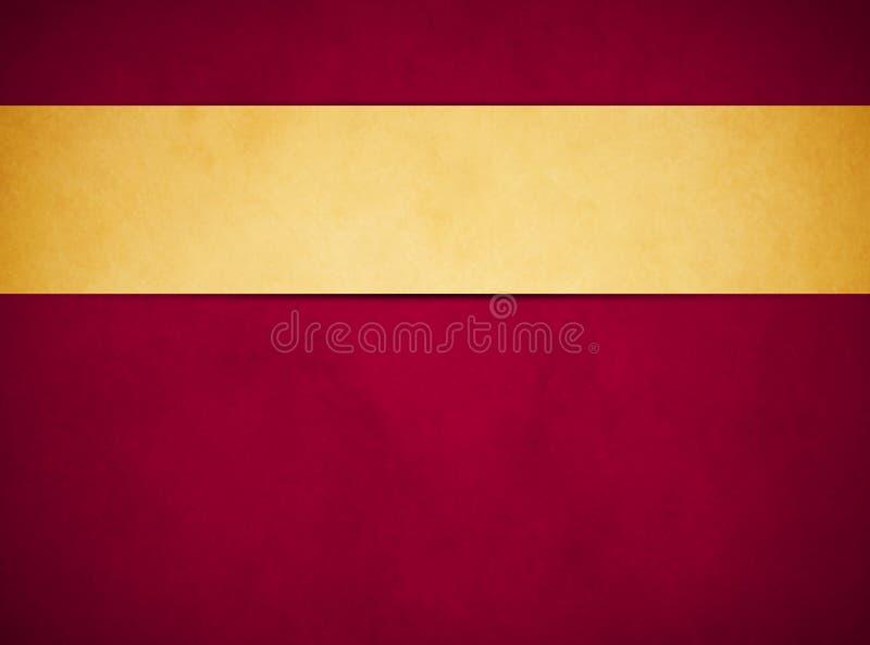 Fond grunge rouge riche élégant Bannière d'or de Tan image stock