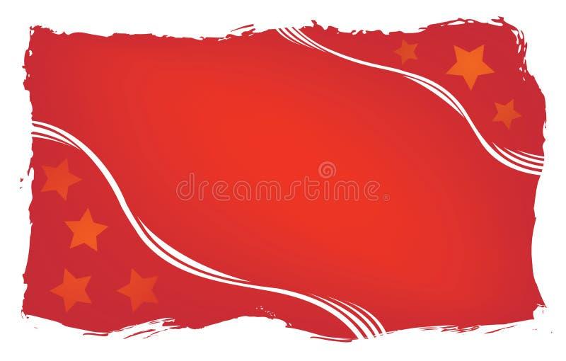 Fond grunge rouge, vecteur images stock