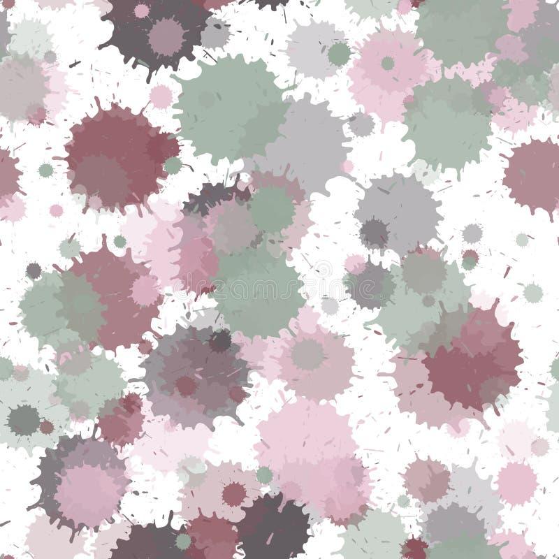 Fond grunge sans couture de taches transparentes de peinture illustration libre de droits