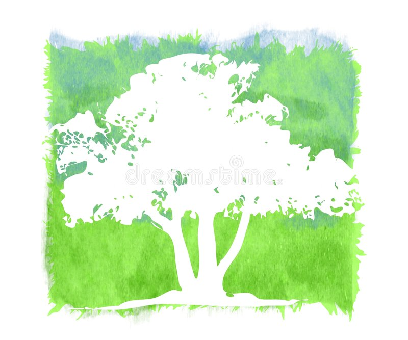 Fond grunge texturisé d'arbre illustration libre de droits
