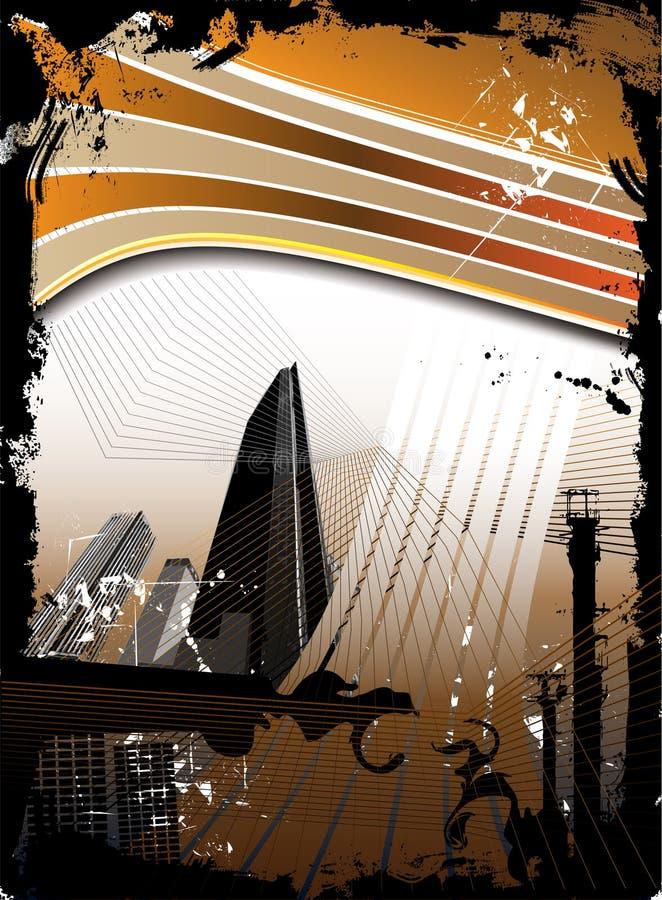 Fond grunge urbain illustration stock