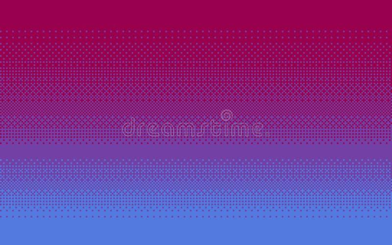 Fond hésitant d'art de pixel dans trois couleurs illustration stock