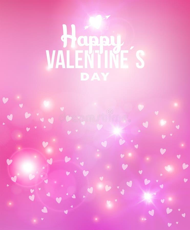 Fond heureux d'abrégé sur jour de valentines illustration stock