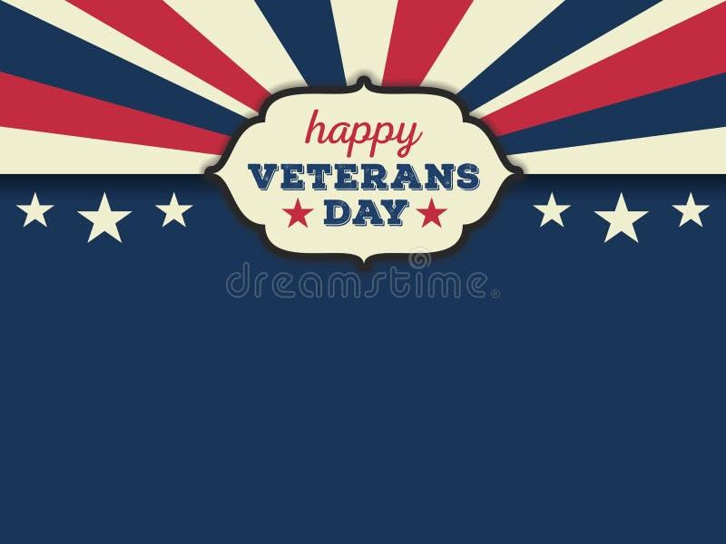 Fond heureux d'horizon de jour de vétérans illustration libre de droits