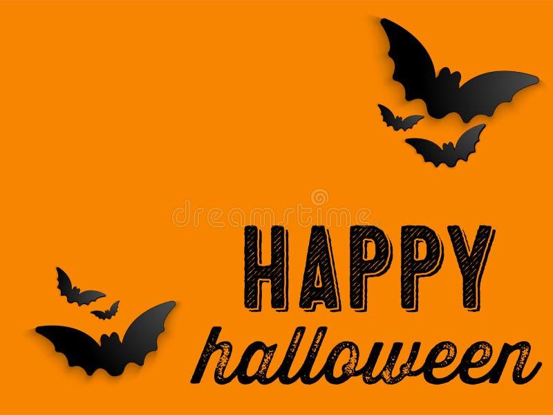 Fond heureux d'icône de batte de Halloween Ghost illustration stock