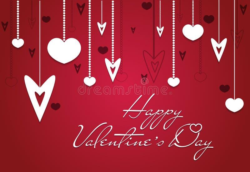 Fond heureux de carte de vintage de Saint-Valentin illustration stock