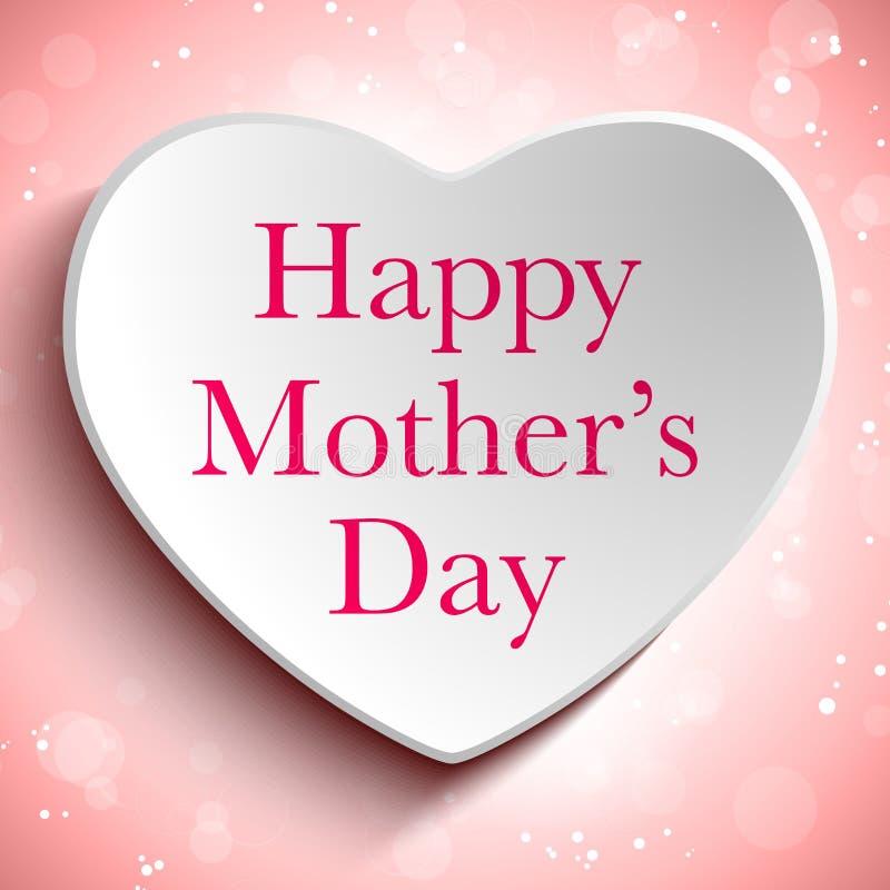 Fond heureux de coeur de fête des mères illustration stock