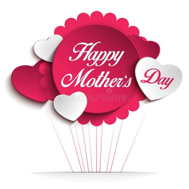 Fond heureux de coeur de fête des mères illustration libre de droits