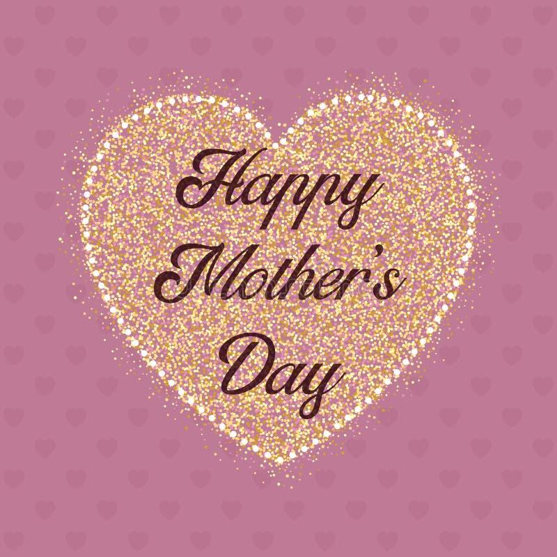 Fond heureux de coeur du jour de mère illustration stock