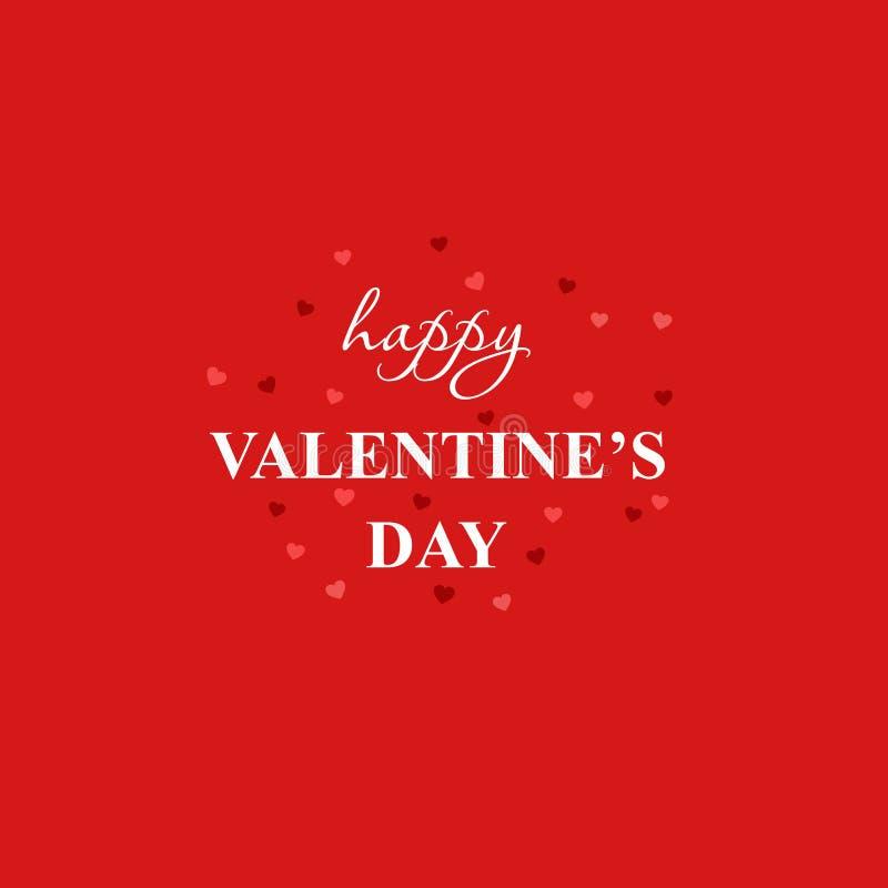 Fond heureux de dessin de main de jour du ` s de Valentine avec des coeurs Carte heureuse de jour du `s de valentine illustration libre de droits