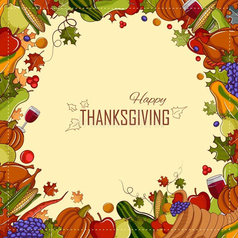 Fond heureux de festival de Thanksgiving illustration de vecteur