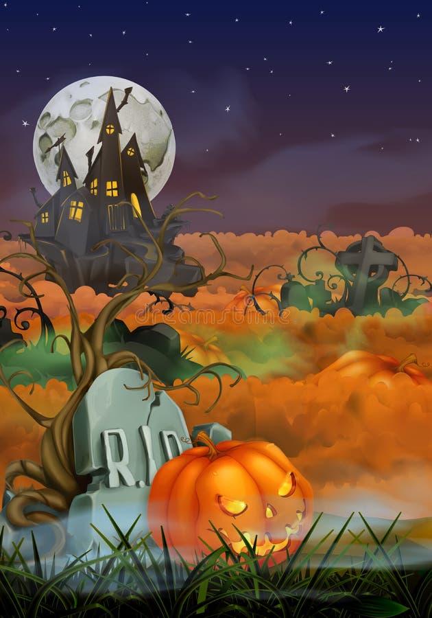 Fond heureux de Halloween illustration stock