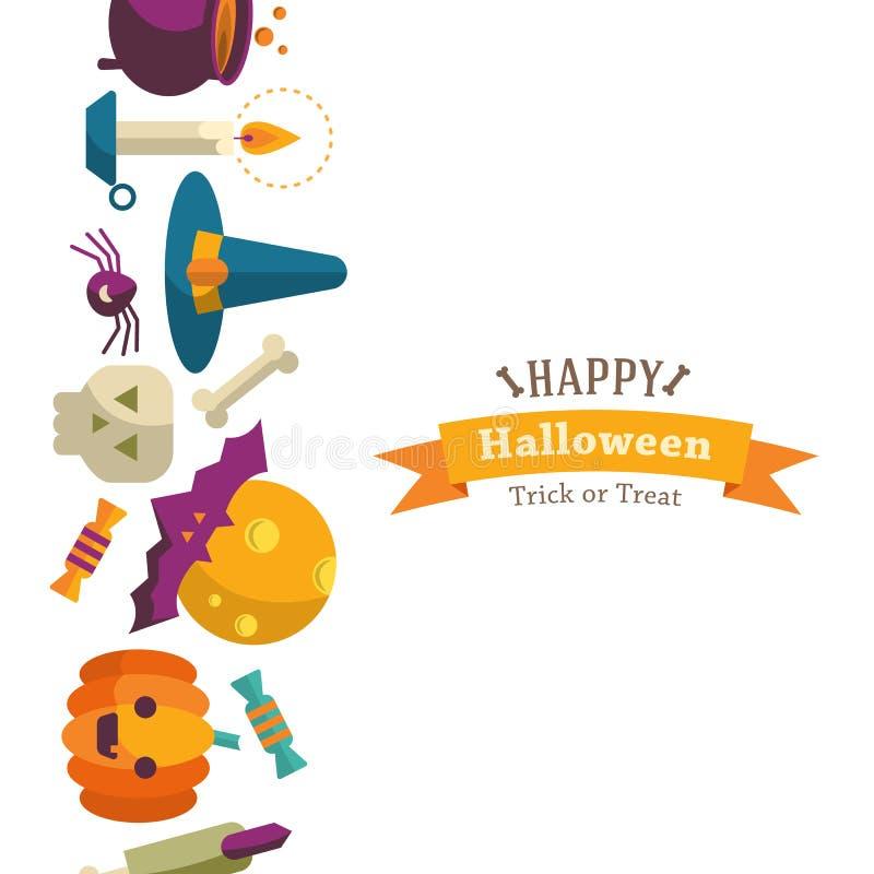 Fond heureux de Halloween illustration libre de droits