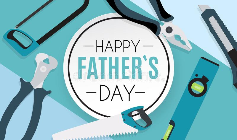 Fond heureux de jour de pères La meilleure illustration de vecteur de papa illustration stock