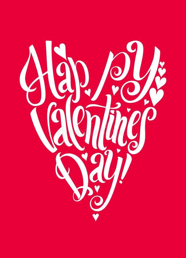 Fond heureux de lettrage de jour de Valentins illustration libre de droits