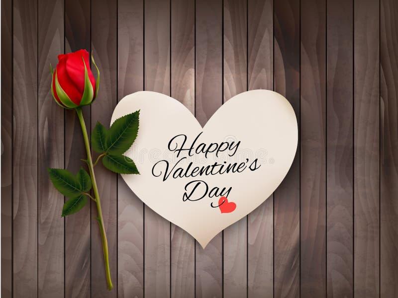 Fond heureux de Saint-Valentin avec une note illustration de vecteur