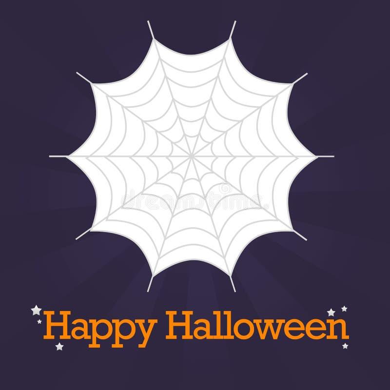 Fond heureux de toile d'araignée de Veille de la toussaint photos libres de droits