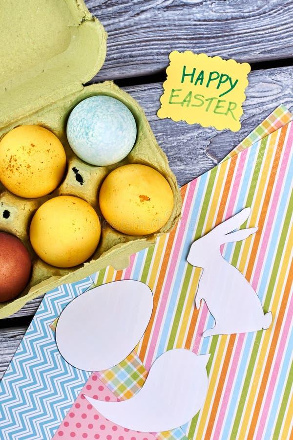 Fond heureux de travail manuel de Pâques image libre de droits